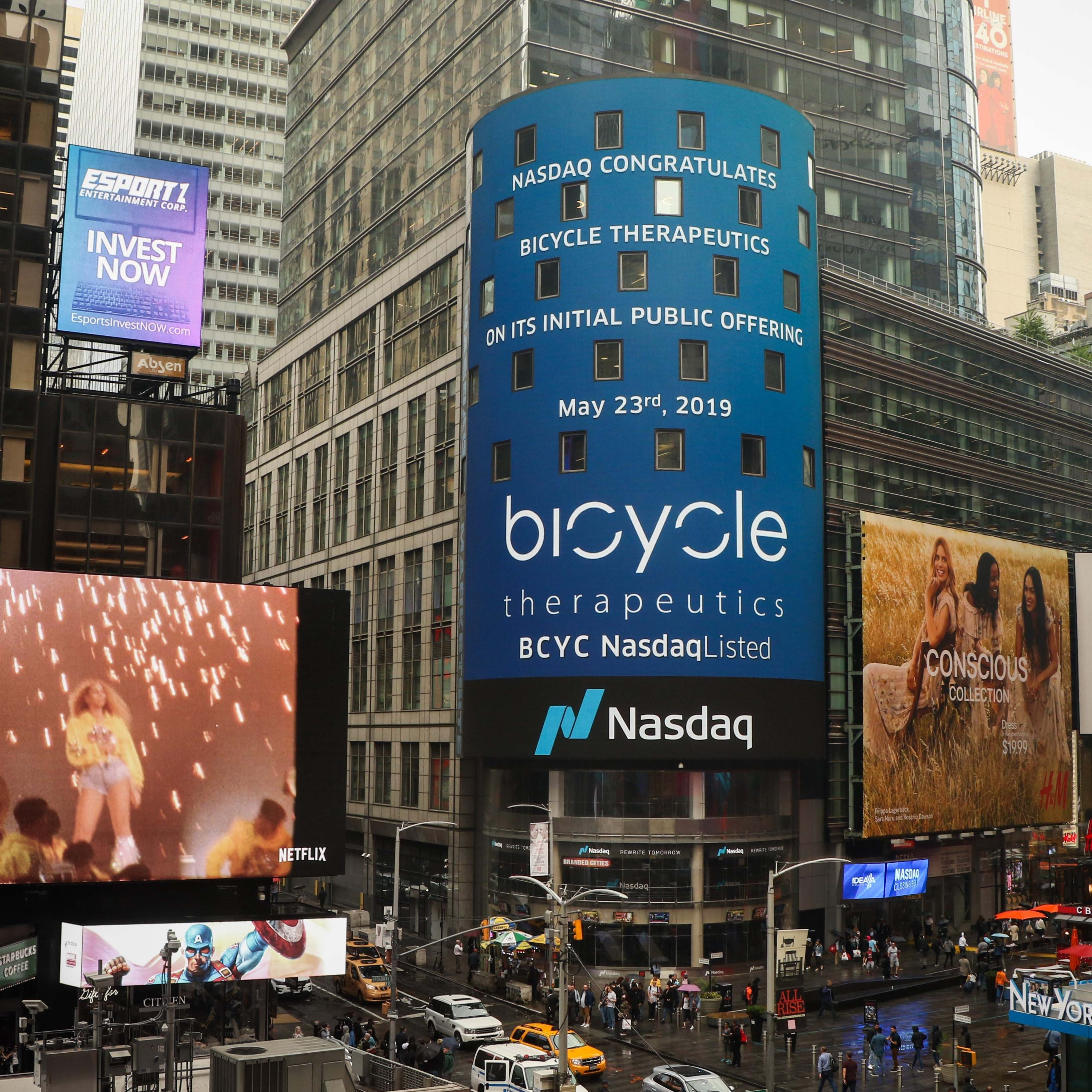 Bicycle Therapeutics announce pricing of Initial Public Offering